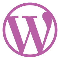 Pinkish WordPress Logo