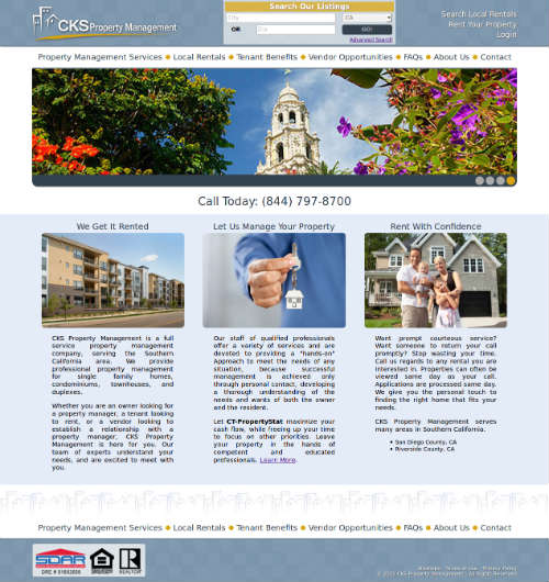 cks-rentals.com screenshot