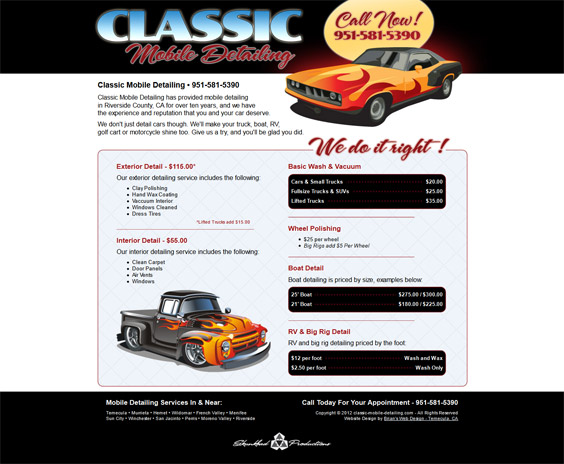 classic-mobile-detailing.com screenshot