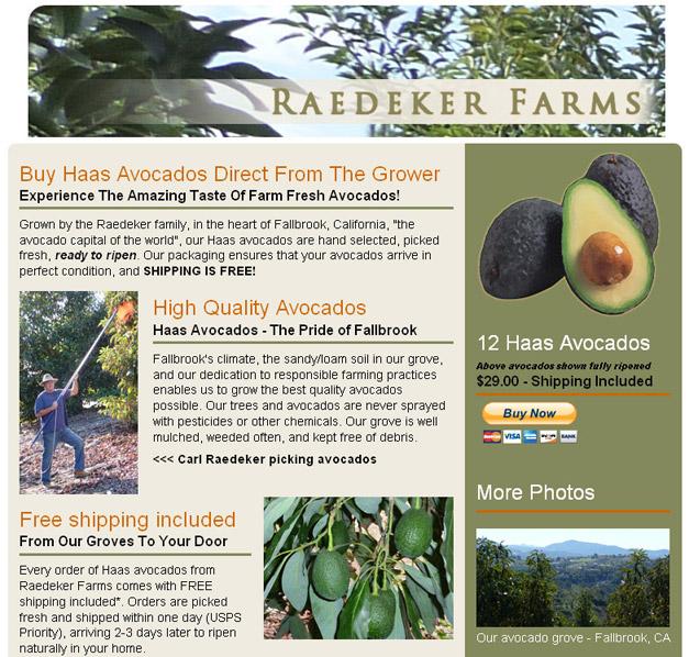 www.eatavocados.com screenshot