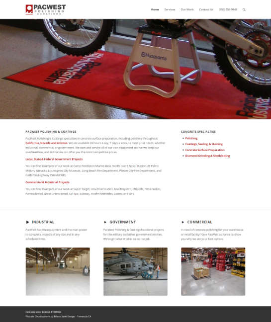 pacwestpolishing.com screenshot