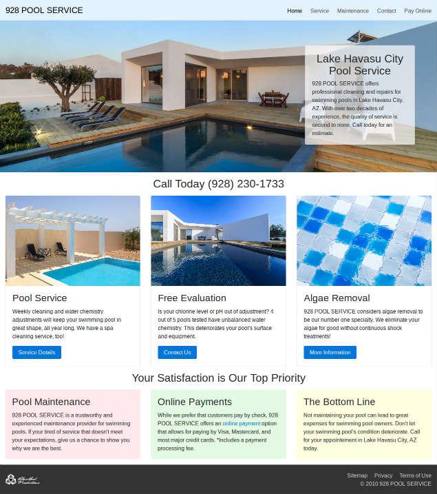 pool-service-lake-havasu.com screenshot