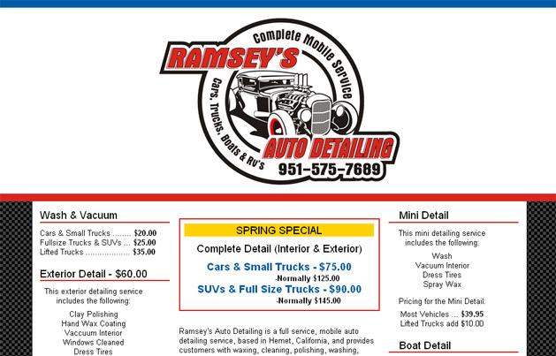 www.ramseys-auto-detailing.com screenshot