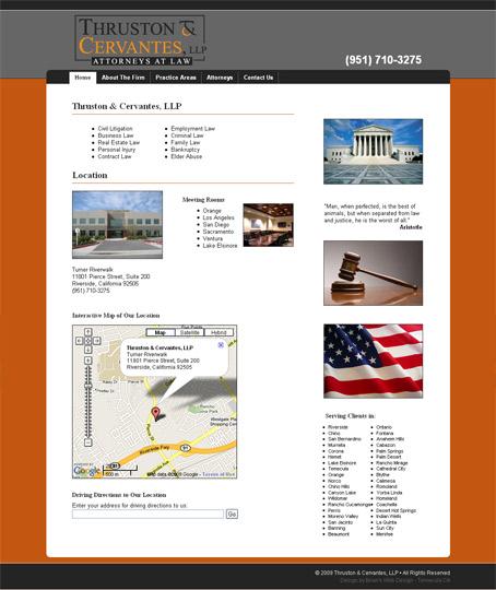 thrustoncervantes.com screenshot