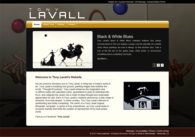 previous tonylavallart.com screenshot