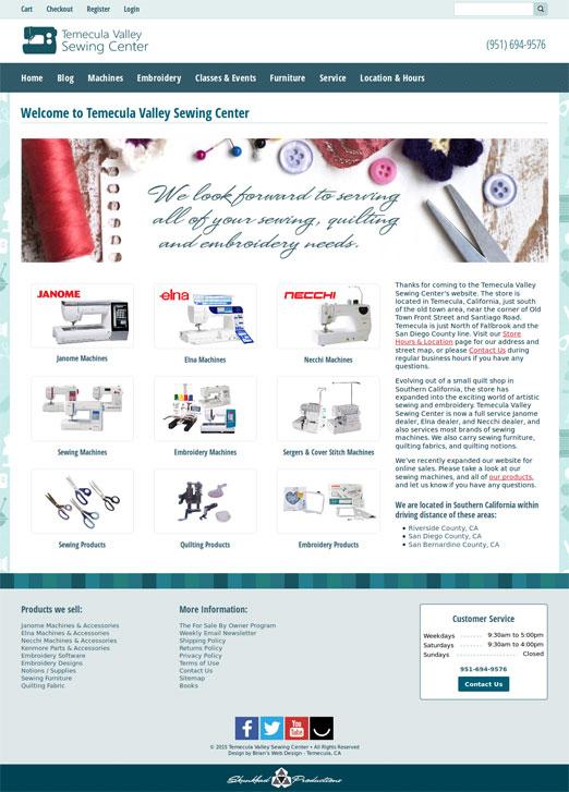 tv-sewingcenter.com screenshot