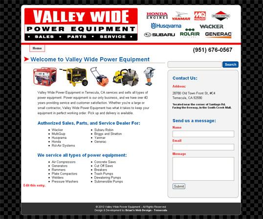 valleywidepowerequipment.com screenshot