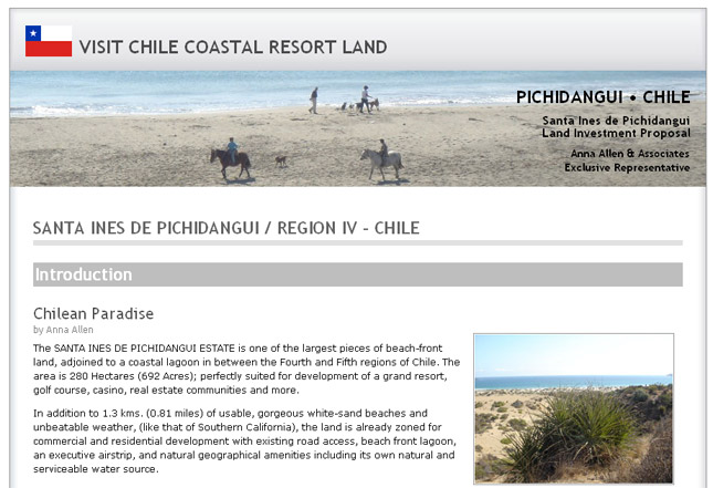 www.visitchilecoastalresortland.com screenshot