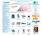 zebamedicalsupply.com screenshot